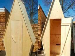 Деревянный туалет дачный. Садовый туалет. Туалет для дачи
