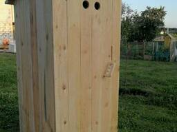 Деревянный туалет для дачи, дома, деревни