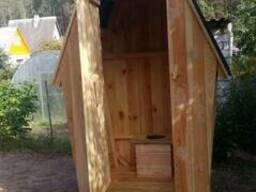 Деревянный туалет Теремок для дачи, дома, деревни