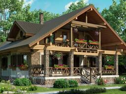 Деревянные дома из бруса , бревна