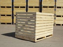 Деревянные контейнеры для хранения яблок