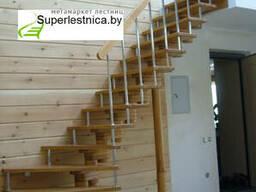 Деревянные лестницы HI-TECH из березы К-008