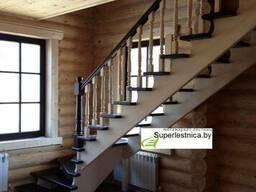 Деревянные лестницы на второй этаж К-001М