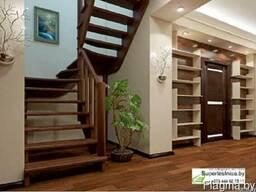 Готовые лестницы из архангельской сосны для дома К-033м