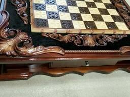 Деревянные шахматы и нарды ручной работы - фото 6