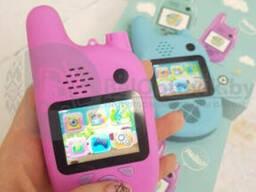 Детская цифровая камера-фотоаппарат с функцией рации Walkie Talkie (ходи-говори) Розовая