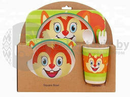 Детская посуда из бамбука из 5 предметов (набор) Bamboo Ware Kids Set. Выбери своего. ..