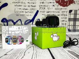Детские умные часы Smart BABY Watch Q80 Wonlex (G72Wifi) Антистресс пупырка Pop It Синие