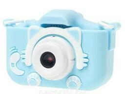 Детский цифровой фотоаппарат Gsmin Fun Camera Kitty со встроенной памятью и играми