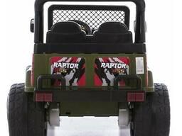Детский электромобиль Electric Toys Jeep Raptor EVA Lux (черный)