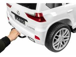 Детский электромобиль Kid's Care Lexus LX 570 4х4 (белый)