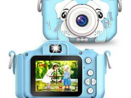 Детский фотоаппарат Childrens Fun Camera Моя первая селфи камера 2 Голубая собачка