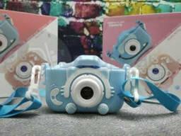 Детский фотоаппарат Childrens Fun Camera Моя первая селфи камера 2 Голубой котик
