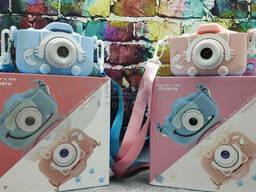 Детский фотоаппарат Childrens Fun Camera Моя первая селфи камера 2 Розовый котик