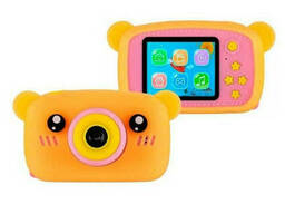 Детский фотоаппарат Zup Childrens Fun Camera со встроенной памятью и играми Мишка. ..
