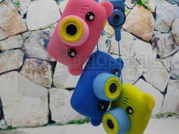 Детский фотоаппарат Zup Childrens Fun Camera со встроенной памятью и играми Мишка Жёлтый