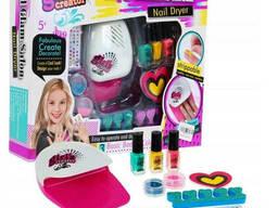 Детский маникюрный набор для девочек Nail Studio с сушилкой (лампой) для ногтей