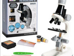 Детский Микроскоп Scientific Microscope (с 3 объективами 1200х 400х 100х с контейнерами. ..