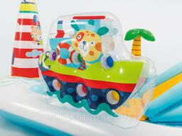 """Детский надувной бассейн с горкой """"Веселая рыбалка"""" с горкой 218Х188Х99см, арт. 57162"""