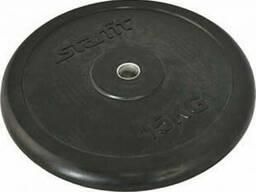 Диск обрезиненный Starfit BB-202 (15 кг) black