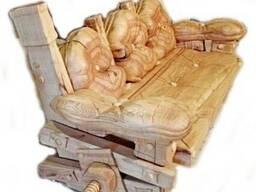 Диван-скамья из массива Дуба.