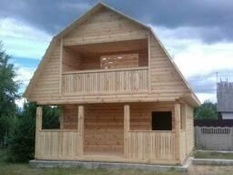 Дом из бруса сруб Татьяна 6×6 доставка/установка.
