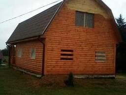 Дом сруб из бруса 9×7 Владимир доставка/установка недорого.