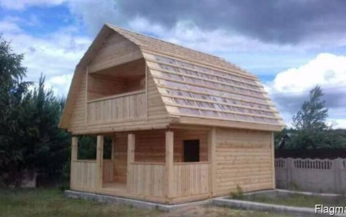 Дома из бруса Верона 6×6 установка. Марьина Горка