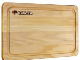 Доска деревянная кухонная разделочная прямоугольная ясень 30х20х2см Украина опт