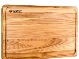 Доска деревянная кухонная разделочная прямоугольная ясень 45х30х2см Украина опт