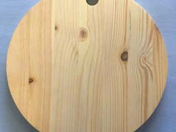 Доска сырная дерево круг с отверстием 24,5 см