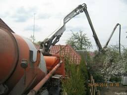 Доставка и перекачка бетона автобетоносместителем.