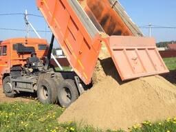 Доставка песка, гравий, грунт