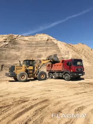 Доставка песка, гравия (сеяного, ПГС, гравий, чернозем, АС2, АС5 и т. д) Песок, Гравий