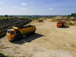 Доставка Песка (ПГС, Строительный) , Доломитового щебня