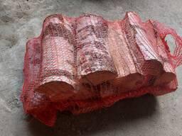 Дрова колотые береза и ольха сухие в сетках и навалом