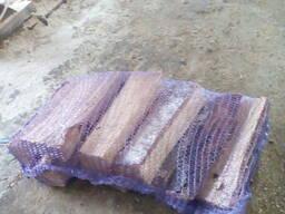 Дрова колотые березовые в сетках по 10 кг