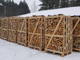 Дрова колотые в ящиках 2RM, лиственные (граб, береза, ольха)