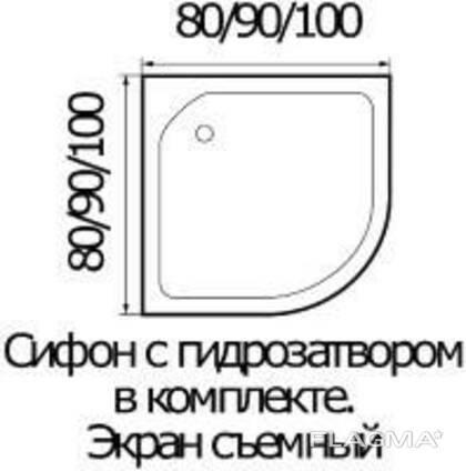 Душевой поддон River 100/26