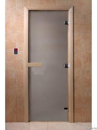 Дверь для парилки и сауны матовая с закаленным стеклом 8мм