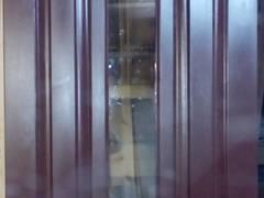 Двери деревянные входные, теплые с стекло пакетом.