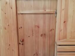 Двери для бани из массива липы, ольхи, сосны