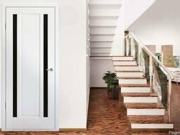 Двери межкомнатные клееный брус сосны и эко шпон под ключ