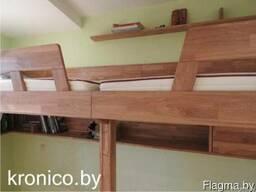 Двухъярусная кровать из дерева - фото 3