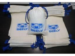 Экомешочки из ткани с логотипом