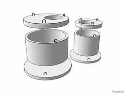 Элементы колодцев: кольца стеновые, плиты днища, плиты перек