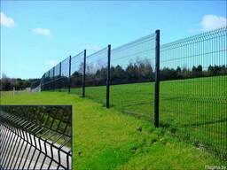 Евро-забор из 3D-панелей. Забор из металлоштакетника.