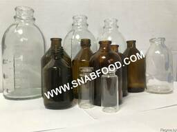 Флаконы и бутылки стеклянные медицинские, оптом