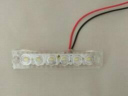Фонарь габаритный LED светодиодный 12V-24V, белый (L=90мм, 6-светодиод. ) Ман ивеко. ..