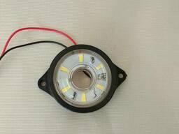Фонарь габаритныйLED светодиодный 24V, белый круглый (d=55мм, 6-светодиод. ) Ман ивеко. ..